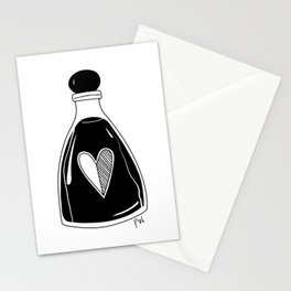 Traditional tattoo style love potion Stationery Cards