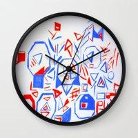 aliens Wall Clocks featuring Aliens by KalinaM