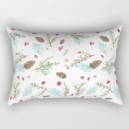 Pinecones and Berries Rectangular Pillow