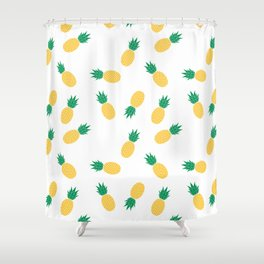 PINEAPPLE ANANAS FRUIT FOOD PATTERN Shower Curtain