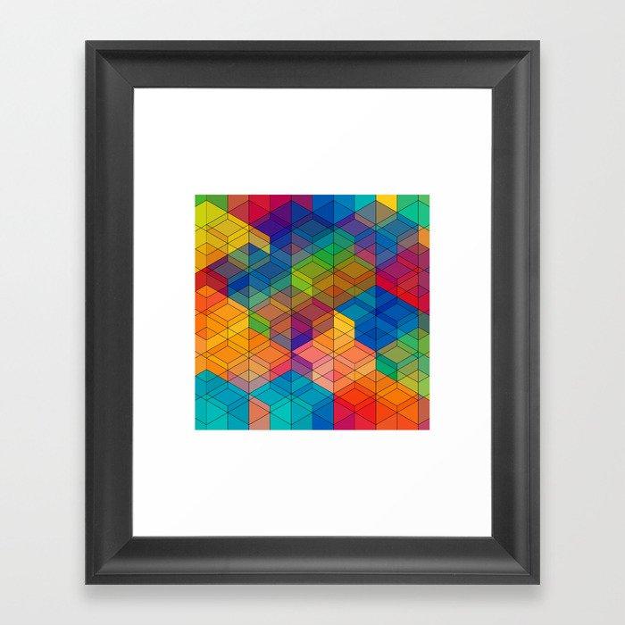 Cuben Intense No.2 Framed Art Print