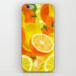 Tropical Fruits Pattern iPhone Skin