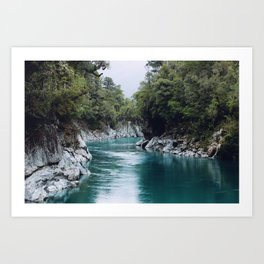 Magic Water (Hokitika Gorge, New Zealand) Art Print