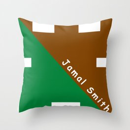 Ninja Green and Brown Throw Pillow