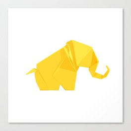 Origami Elephant Canvas Print