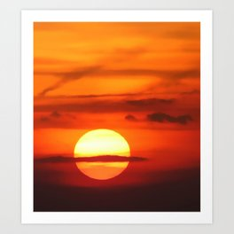 Sunset at Devil's Dyke (UK) Art Print