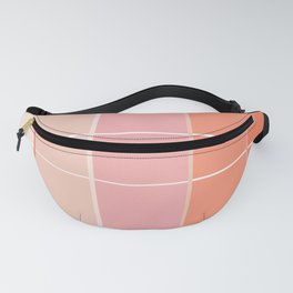 Peach + Gradient Grid Fanny Pack