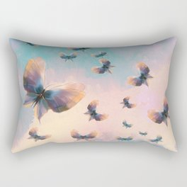 Happiness is a butterfly Rectangular Pillow