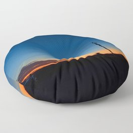 Outback sunset Floor Pillow