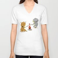 dark souls V-neck T-shirts featuring Bonfire Buddies - Dark Souls by Pengew