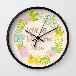 Illustration Of Love . Valentine's Day. Wall Clock