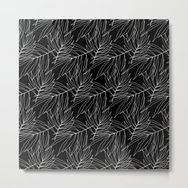 Black leaves Metal Print