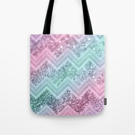 Mermaid Glitter Chevron #2 #shiny #pastel #decor #art #society6 Tote Bag