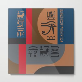 Egyptian Symbols Art Deco Composition #2 Metal Print