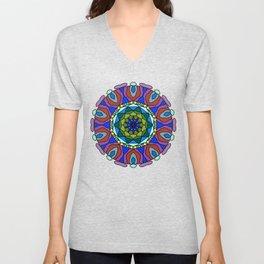 pastel fractal mandala Unisex V-Neck