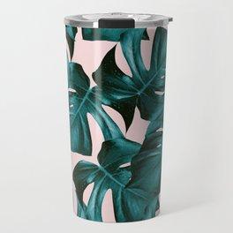 Tropical Monstera Leaves Pattern #1 #foliage #decor #art #society6 Travel Mug