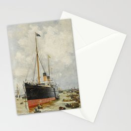 William Lionel Wyllie, R.A. 1851-1931 SPITHEAD, 4TH AUGUST 1889. H.I.M. THE EMPEROR OF GERMANY Stationery Cards