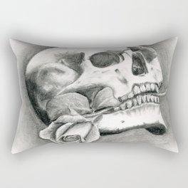 Skull & Rose Rectangular Pillow