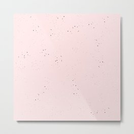 speckled pink Metal Print