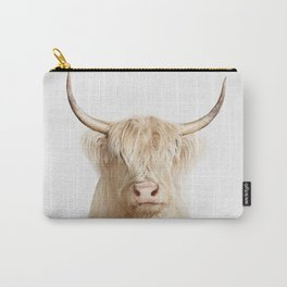 highland albino cow Carry-All Pouch