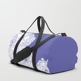 FLORAL IN BLUE Duffle Bag
