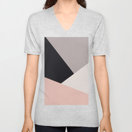 Elegant & colorful geometric Unisex V-Neck