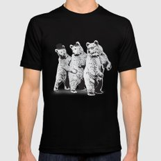 Funky Bears Mens Fitted Tee LARGE Black