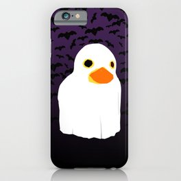 Fuzzy Duck Ghost iPhone Case