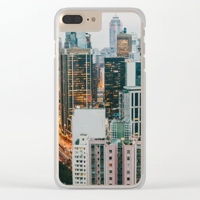 Hong Kong 2 Clear iPhone Case