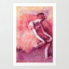 Ballerina Peach Art Print