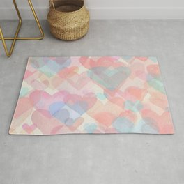 Floating Hearts Rug