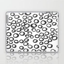 Hand painted monochrome rings pattern Laptop & iPad Skin