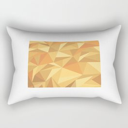 Colorado Pattern Map Art Rectangular Pillow