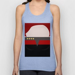 Captian Katherine Janeway - Minimalist Star Trek: Voyager VOY - trektangle - startrek trektangles Unisex Tank Top