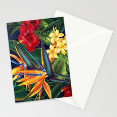Tropical Paradise Hawaiian Floral Illustration Stationery Cards