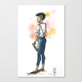Androgypunk by Kat Mills Canvas Print