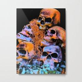 Skulls 2 By Annie Zeno Metal Print