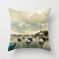 Brixham harbor  Throw Pillow