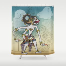 Modification of the puppet characters Hanuman white monkey in the story of the Ramayana Shower Curtain