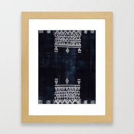 Arteresting V48 - Indigo Anthropologie Bohemien Traditional Moroccan Design Framed Art Print
