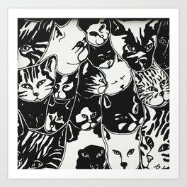 lots of cats Art Print