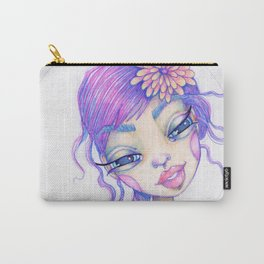 JennyMannoArt Colored Pencil Illustration/Sarah Carry-All Pouch