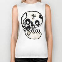 calavera Biker Tanks featuring Calavera by Happy Tao