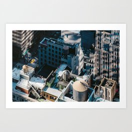 New York sky view Art Print