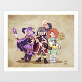 D&D Girls Art Print