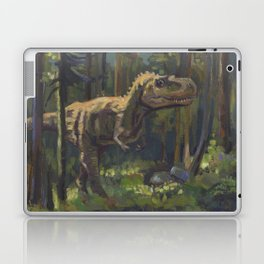 HUNT, T.rex dinosaur painting by Frank-Joseph Laptop & iPad Skin