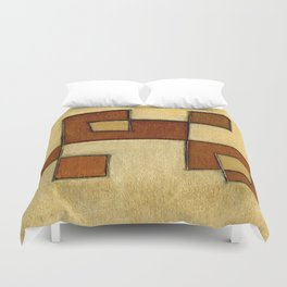 Protoglifo 01 'brown yell' Duvet Cover