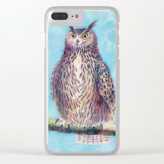 Mr. Owl Clear iPhone Case