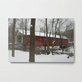 Knecht's Covered Bridge Metal Print