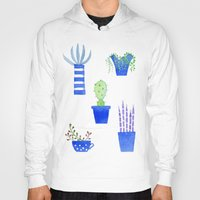 succulents Hoodies featuring Succulents by Nic Squirrell